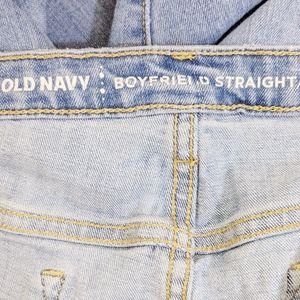 Old Navy Jeans - old navy | boyfriend straight denim jeans sz 16